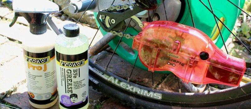 почистить цепь велосипеда не снимая