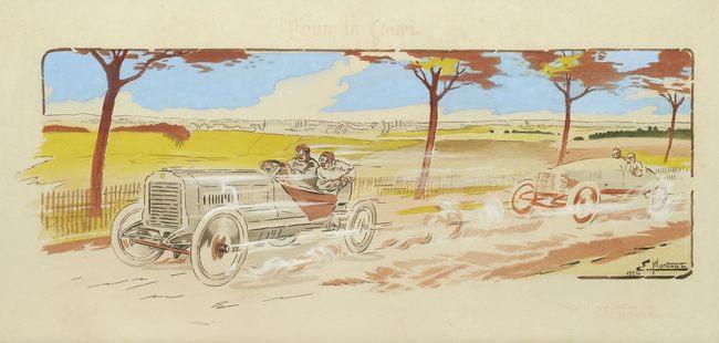 по закону Ernest Montaut  скорость автомобиля изменяется визуально