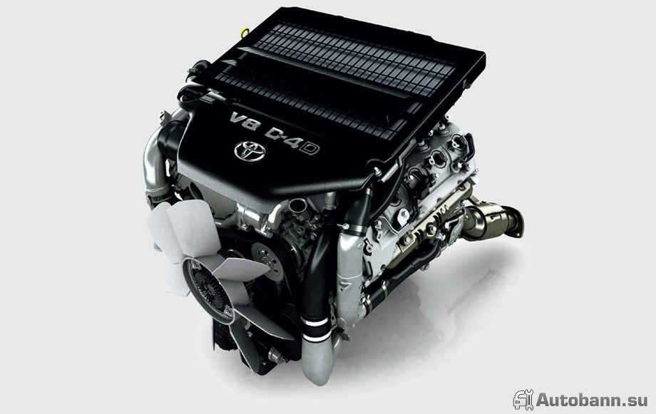 фото мотора нового Toyota Land Cruiser 200 2016