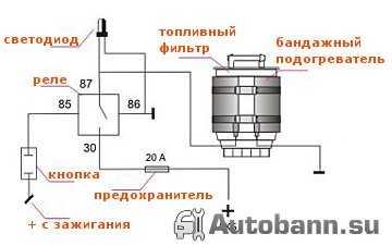подогреватель дизельного топлива и подключение своими руками