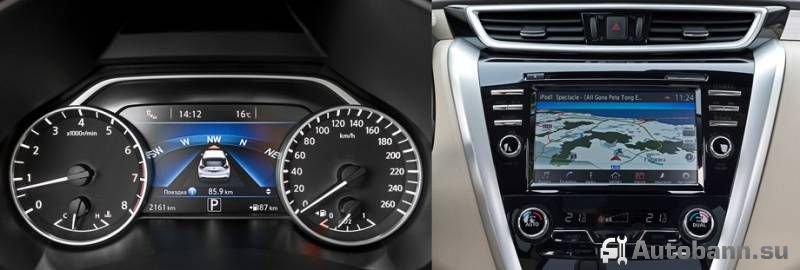 технические характеристики и функции Nissan Murano