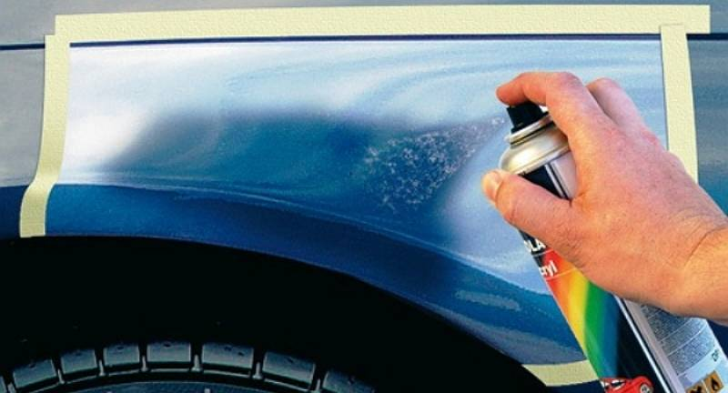 как покрасить машину баллончиком в домашних условиях