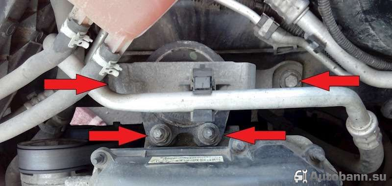 замена демпферной подушки двигателя Форд Фокус 2
