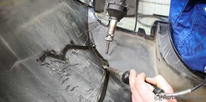 ремонтируем поломанный бампер своими руками